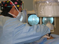 Dr. Anthony Yeung performing YESS procedure.